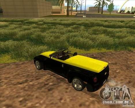 Chevrolet SSR para GTA San Andreas vista interior