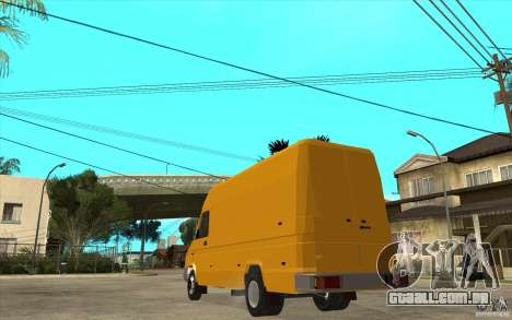 Iveco Turbo Daily para GTA San Andreas traseira esquerda vista