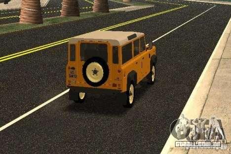 Land Rover Defender 110 para GTA San Andreas vista direita