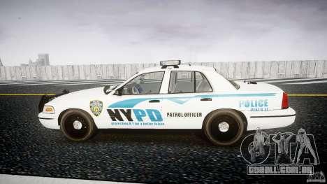 Ford Crown Victoria v2 NYPD [ELS] para GTA 4 esquerda vista