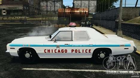 Dodge Monaco 1974 Police v1.0 [ELS] para GTA 4 esquerda vista
