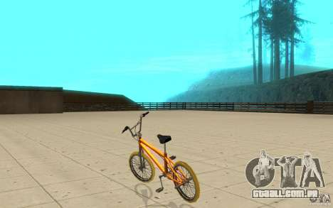 Zeros BMX YELLOW tires para GTA San Andreas traseira esquerda vista