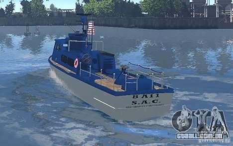 Coast Guard Patrol para GTA 4 vista direita
