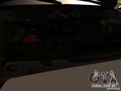 Ford F350 Super Dute para GTA San Andreas vista interior