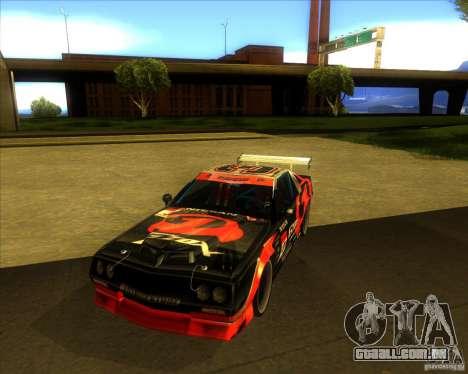 Buffalo D1 para GTA San Andreas vista traseira