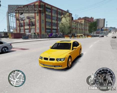 BMW Alpina B7 para GTA 4 vista de volta