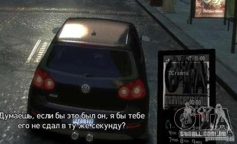Tema GTAViceCity.RU para GTA 4 quinto tela