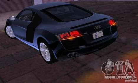 Audi R8 4.2 FSI para GTA San Andreas vista direita