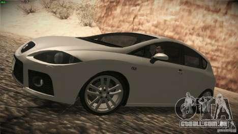 Seat Leon Cupra para GTA San Andreas traseira esquerda vista