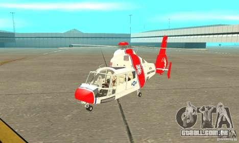 AS-365N da Guarda Costeira dos Estados Unidos para GTA San Andreas esquerda vista