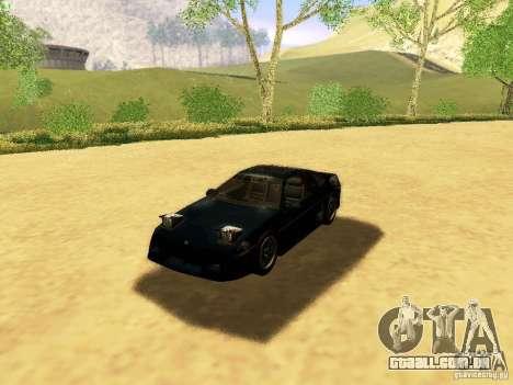 Pontiac Fiero V8 para GTA San Andreas vista superior