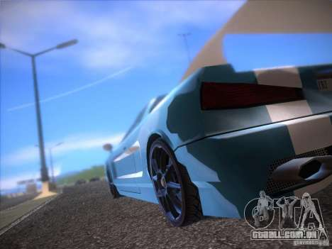 New Infernus para GTA San Andreas vista traseira