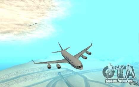 Ilyushin Il-96 para GTA San Andreas esquerda vista