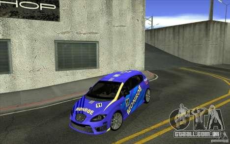 Seat Leon Cupra R para GTA San Andreas interior