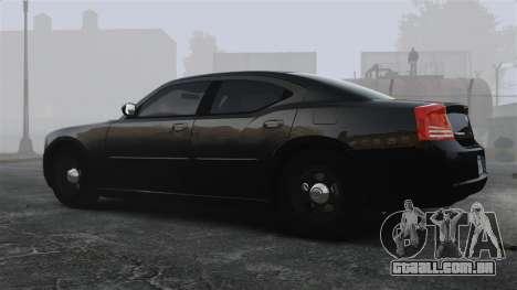 Dodge Charger RT Hemi FBI 2007 para GTA 4 esquerda vista