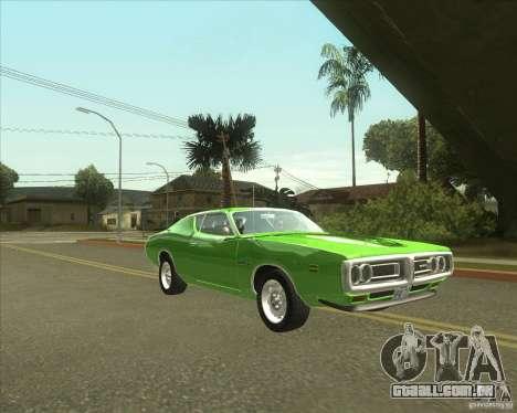 1971 Dodge Charger Super Bee para GTA San Andreas traseira esquerda vista