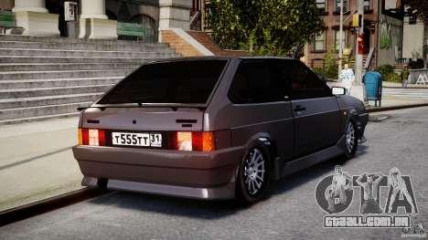Esporte Vaz-2108 para GTA 4 vista lateral