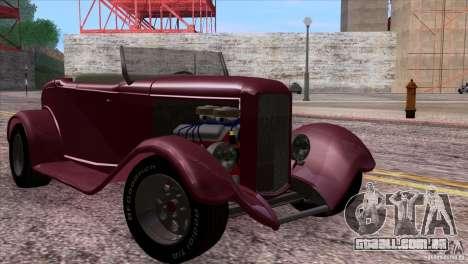 Ford Roadster 1932 para GTA San Andreas vista inferior