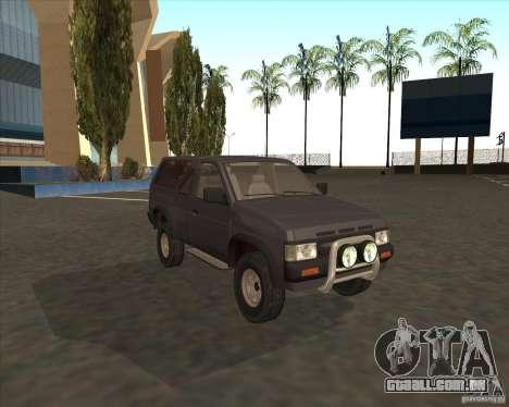 Nissan Terrano para GTA San Andreas traseira esquerda vista