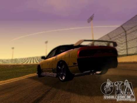 Nissan 240sx Street Drift para GTA San Andreas traseira esquerda vista