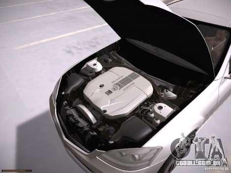 Mercedes Benz S65 AMG 2012 para GTA San Andreas vista traseira