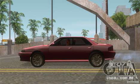 New Sultan HD para GTA San Andreas esquerda vista