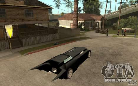 Batmobile Tas v 1.5 para GTA San Andreas vista direita