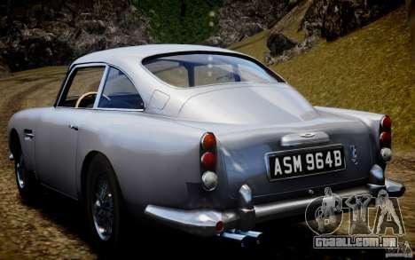 Aston Martin DB5 1964 para GTA 4 vista de volta