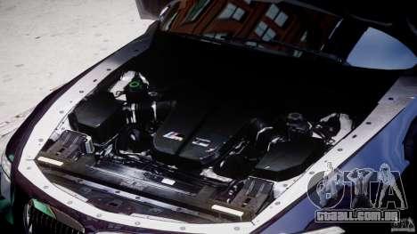 BMW M6 Orange-Black Bullet para GTA 4 vista de volta