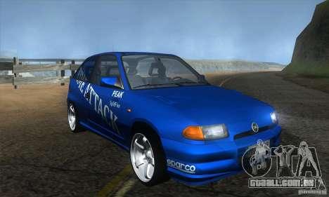 Opel Astra Time Attack para GTA San Andreas vista traseira