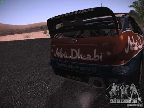 Ford Focus RS WRC 2010 para vista lateral GTA San Andreas