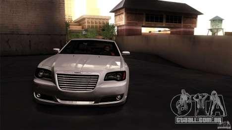 Chrysler 300C V8 Hemi Sedan 2011 para GTA San Andreas traseira esquerda vista