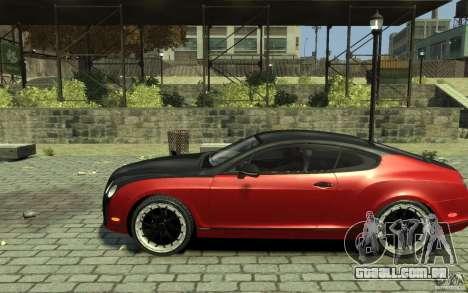 Bentley Continental GT SS para GTA 4 esquerda vista