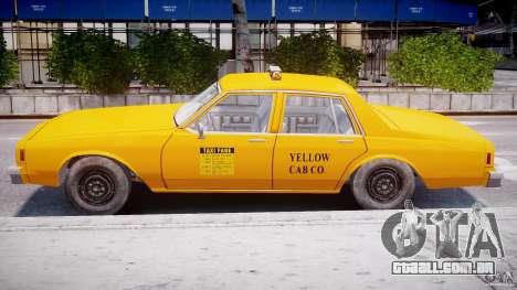 Chevrolet Impala Taxi 1983 para GTA 4 vista lateral
