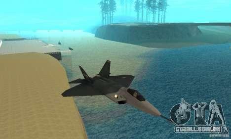 YF-22 Standart para GTA San Andreas vista traseira