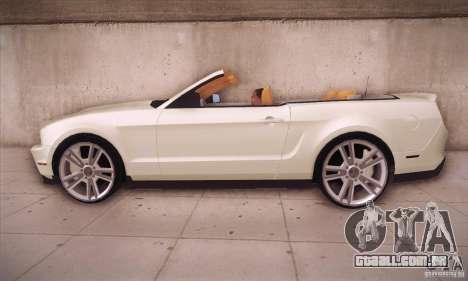 Ford Mustang 2011 Convertible para GTA San Andreas esquerda vista
