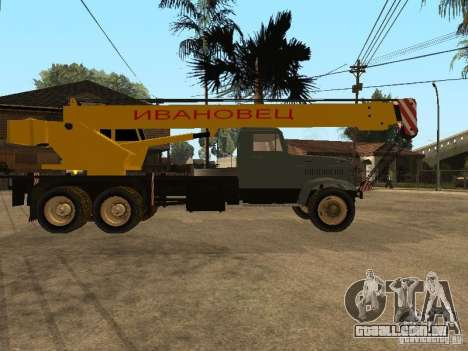 KrAZ caminhão para GTA San Andreas vista direita