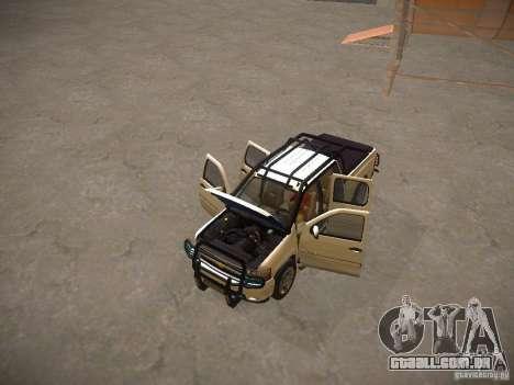 Chevrolet Silverado para GTA San Andreas vista superior