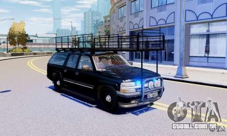 Chevrolet Suburban 2003 Norwegian SWAT Edition para GTA 4