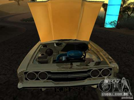 Ford Cortina MK 3 Life On Mars para GTA San Andreas traseira esquerda vista