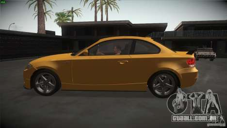 BMW 135i Coupe Road Edition para GTA San Andreas esquerda vista