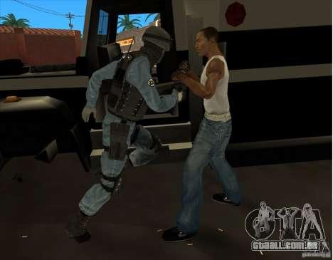Los Angeles S.W.A.T. Skin para GTA San Andreas quinto tela