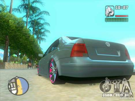 VW Bora Tuned para GTA San Andreas vista interior