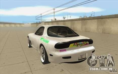 Mazda FD3S - Ebisu Style para GTA San Andreas traseira esquerda vista