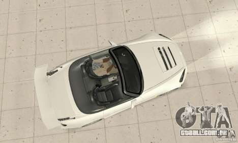 Honda S2000 Cabrio West Tuning para GTA San Andreas vista direita