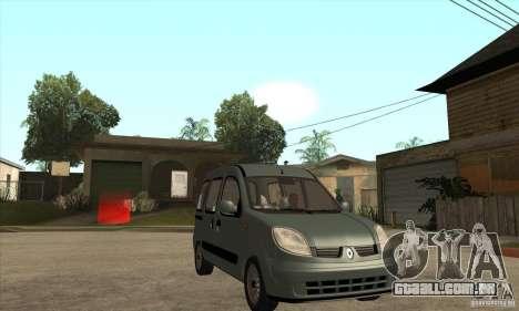 Renault Kangoo 2005 para GTA San Andreas vista traseira