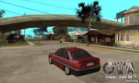 Opel Omega A para GTA San Andreas traseira esquerda vista