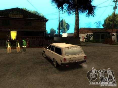 GAZ VOLGA 310221 TUNING versão para GTA San Andreas traseira esquerda vista