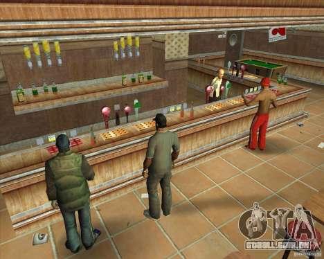 Salierys Bar para GTA San Andreas sexta tela