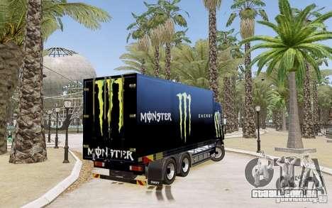 Scania R580 Monster Energy para GTA 4 esquerda vista